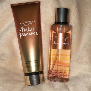 CS Amber Romance Body Lotion and Fragrance Mist